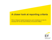 Studie 'A closer look at reporting criteria'