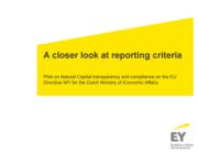 Studie 'A closer look at reporting criteria'